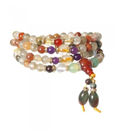 Natural Colorful Buddhist Necklace Bracelet