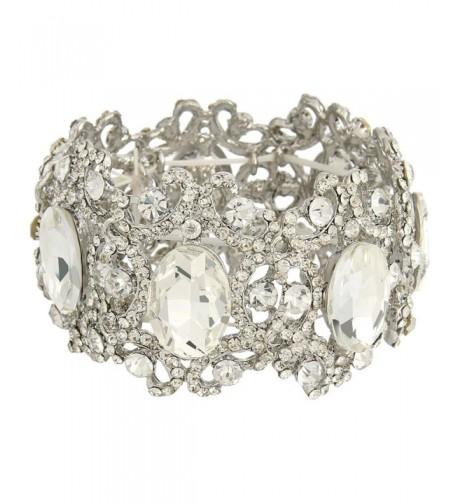 EVER FAITH Silver Tone Austrian Bracelet