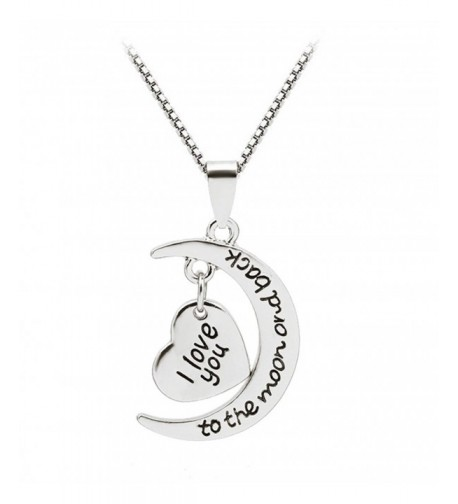 Heart Shaped Pendant Necklace Silver