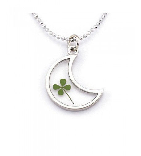 Stainless Clover Pendant Necklace inches
