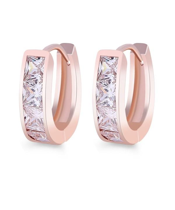 GULICX Zirconia Jewelry Princess Earring