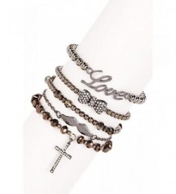Lux Accessories Cross Wings Bracelet