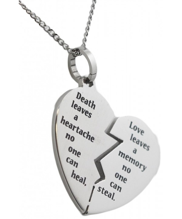 Bereavement Necklace Stainless Pendant Condolence