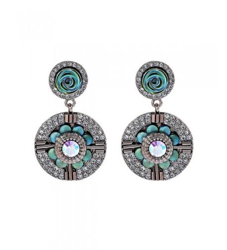 Vintage Dangle Earrings Flower Earring
