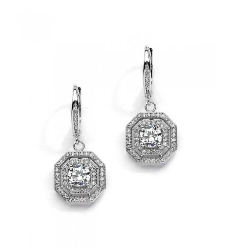 Mariell Vintage Wedding Earrings Octagon