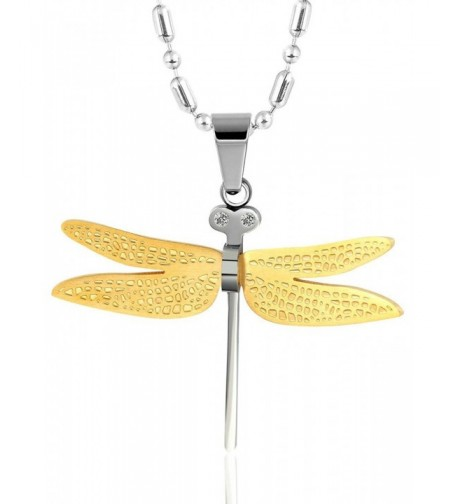 Dragonfly 3x4 3CM Stainless Necklace Aooaz
