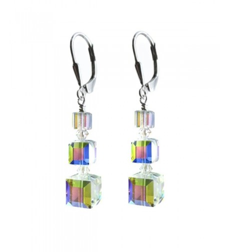 Earrings Swarovski Elements Sterling Lever Back