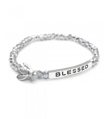 Blessed Inspirational Bracelet Stacking Stretch