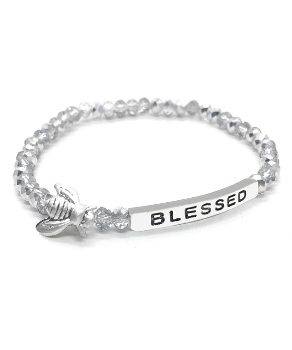 Blessed Inspirational Bracelet Stacking Stretch