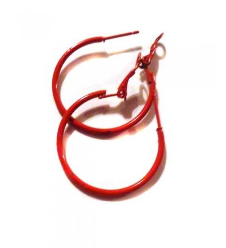 Color Hoop Earrings Simple Thin