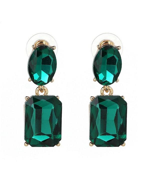 YAZILIND Rectangle Zirconia Flawless Earrings