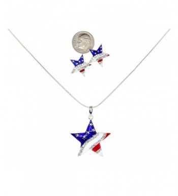 Independence American Pendant Necklace Earrings