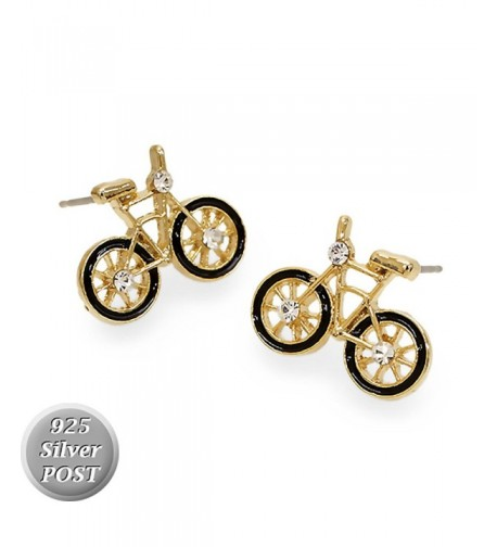 Crystal Rhinestone Bicycle Fashion Earrings