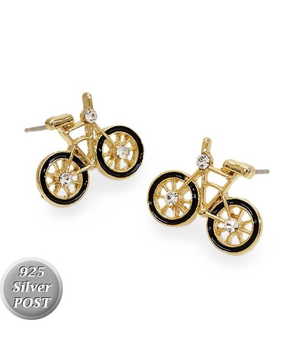 Crystal Rhinestone Bicycle Fashion Earrings