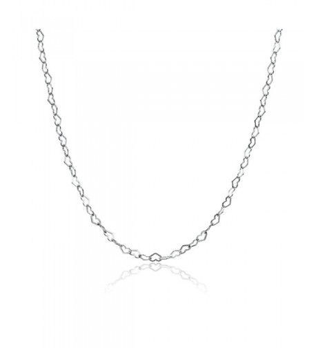 Sterling Silver Heart Necklace Inches